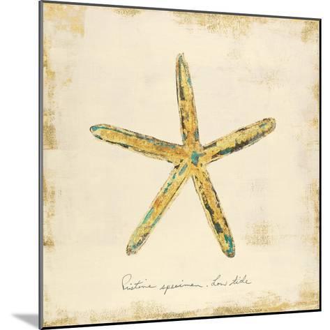 Gilded Ocean Starfish-Studio 5-Mounted Art Print