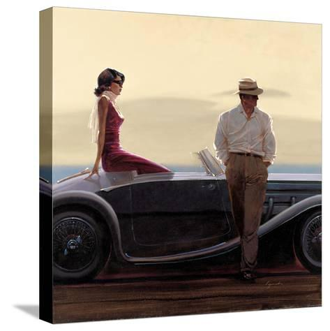 Coastal Drive-Brent Lynch-Stretched Canvas Print