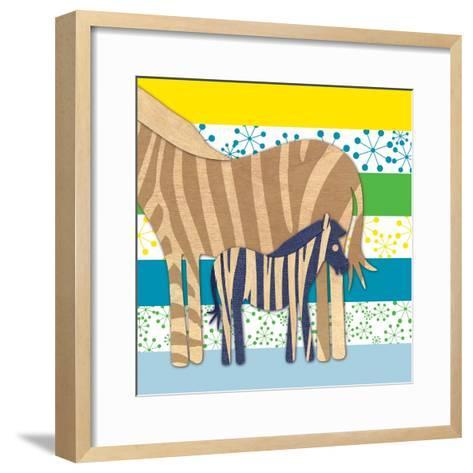 Zebra Family-Z Studio-Framed Art Print