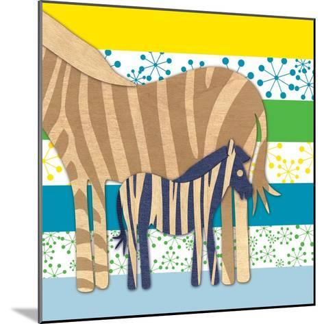 Zebra Family-Z Studio-Mounted Art Print