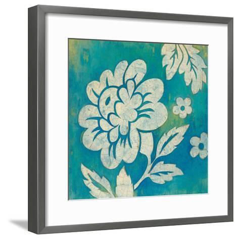 Blue Floral-Hope Smith-Framed Art Print