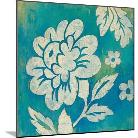 Blue Floral-Hope Smith-Mounted Art Print