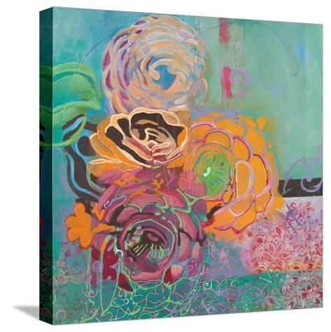 Bohemian Posies-Jeanne Wassenaar-Stretched Canvas Print