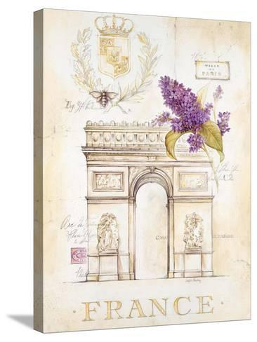 Arc De Triomphe Lilacs-Angela Staehling-Stretched Canvas Print