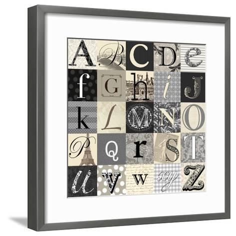 Designing Alphabet-Morgan Yamada-Framed Art Print