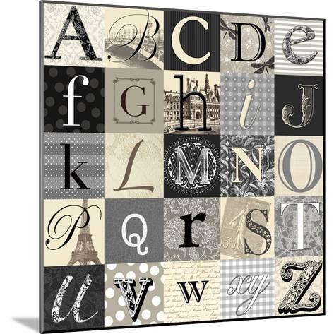 Designing Alphabet-Morgan Yamada-Mounted Art Print