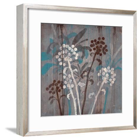 Modern Aqua Floral 2-Filippo Ioco-Framed Art Print