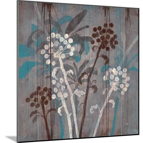 Modern Aqua Floral 2-Filippo Ioco-Mounted Art Print