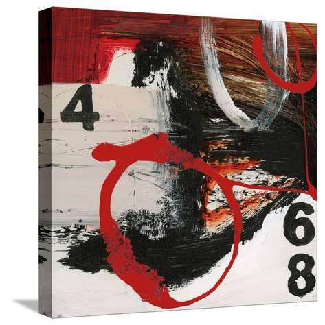 Abstract Numbers-Natasha Barnes-Stretched Canvas Print