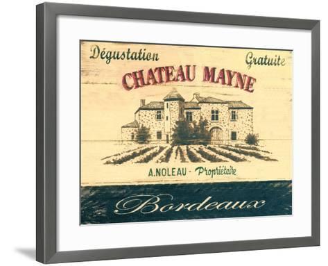 Chateau Mayne-Martin Wiscombe-Framed Art Print