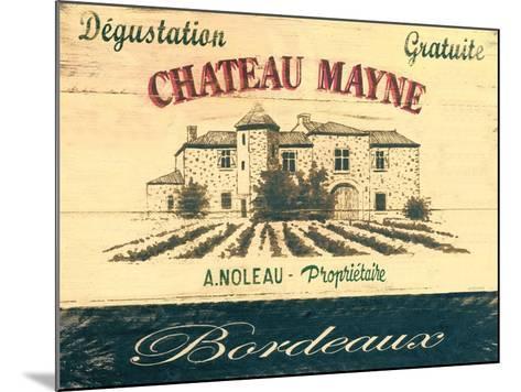 Chateau Mayne-Martin Wiscombe-Mounted Art Print