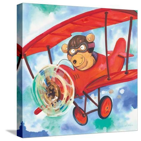 Action Bear-Scott Nelson-Stretched Canvas Print