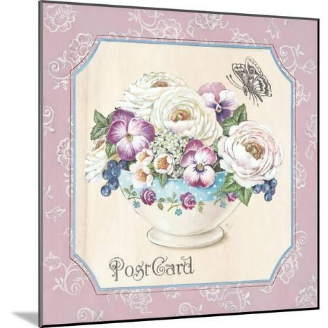 Teatime Pansies-Stefania Ferri-Mounted Art Print