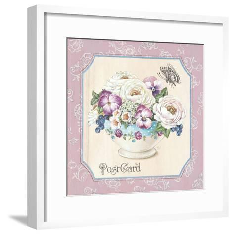 Teatime Pansies-Stefania Ferri-Framed Art Print