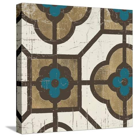 Turquoise Tile 4-Morgan Yamada-Stretched Canvas Print