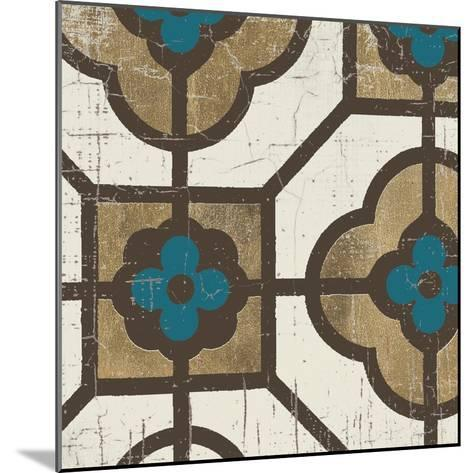 Turquoise Tile 4-Morgan Yamada-Mounted Art Print