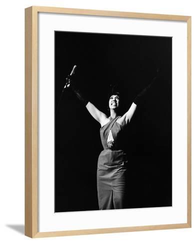 Legendary Entertainer Josephine Baker Addresses Her Adoring Fans-G. Marshall Wilson-Framed Art Print