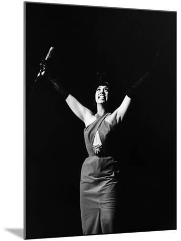 Legendary Entertainer Josephine Baker Addresses Her Adoring Fans-G. Marshall Wilson-Mounted Photographic Print