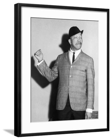 Redd Foxx, Backstage, Chicago's Tivoli Theater, May 1961-Isaac Sutton-Framed Art Print