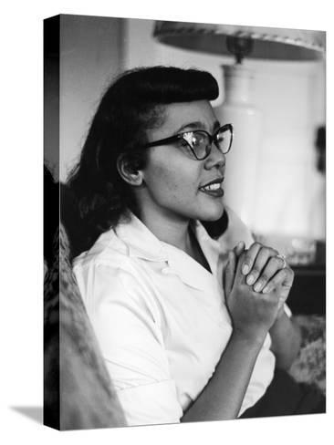 Civil Rights Icon Coretta Scott King, 1958-Moneta Sleet Jr.-Stretched Canvas Print