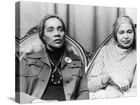Coretta Scott King and Rosa Parks-Todd Duncan-Stretched Canvas Print