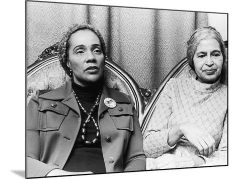 Coretta Scott King and Rosa Parks-Todd Duncan-Mounted Photographic Print