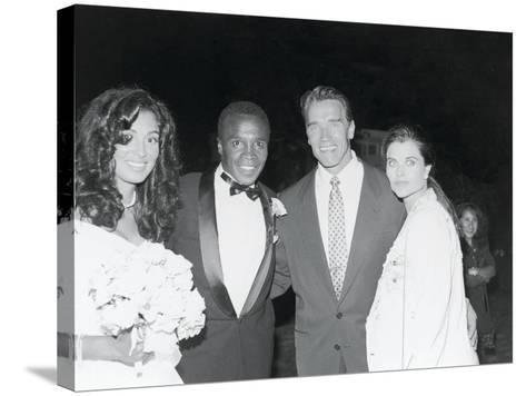Sugar Ray Leonard and Bernadette Robi, Wedding Ceremony,  August 1993-Vandell Cobb-Stretched Canvas Print
