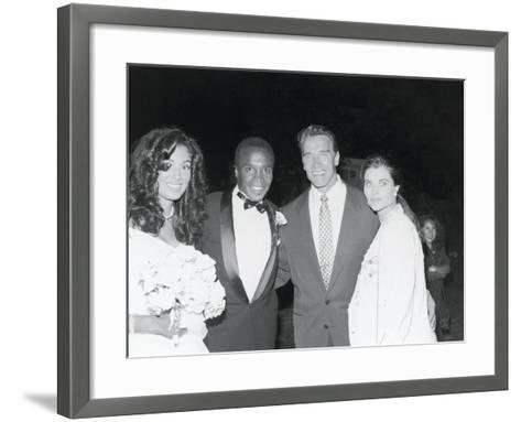 Sugar Ray Leonard and Bernadette Robi, Wedding Ceremony,  August 1993-Vandell Cobb-Framed Art Print