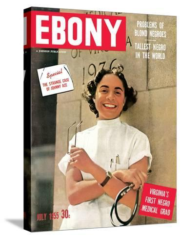 Ebony July 1955-David W^ Jackson-Stretched Canvas Print