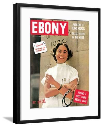 Ebony July 1955-David W^ Jackson-Framed Art Print