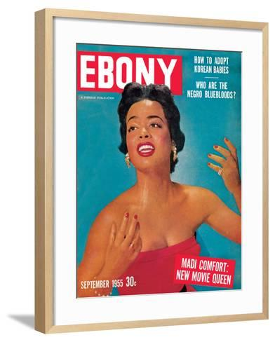 Ebony September 1955-Howard Morehead-Framed Art Print