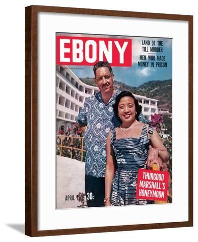 Ebony April 1956-David W^ Jackson-Framed Art Print