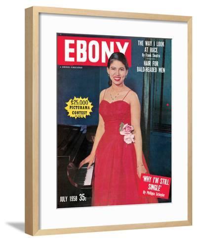 Ebony July 1958-G. Marshall Wilson-Framed Art Print