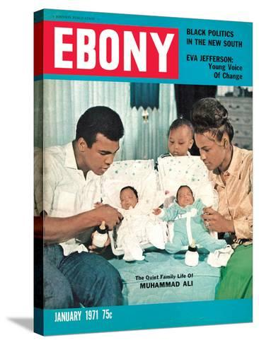 Ebony January 1971-Isaac Sutton-Stretched Canvas Print