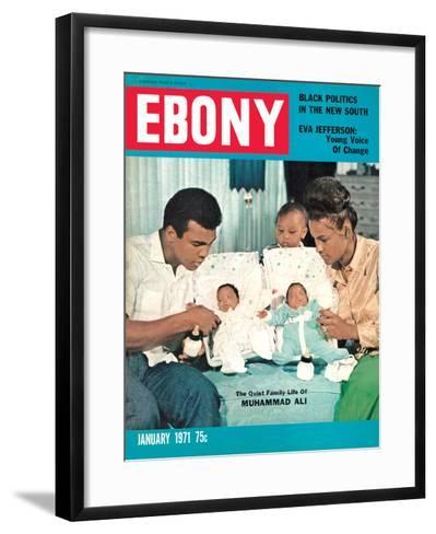 Ebony January 1971-Isaac Sutton-Framed Art Print