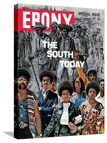 Ebony August 1971-Herbert Temple-Stretched Canvas Print