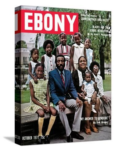 Ebony October 1971-Hal Franklin-Stretched Canvas Print