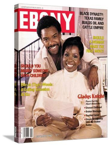 Ebony November 1982-Isaac Sutton-Stretched Canvas Print
