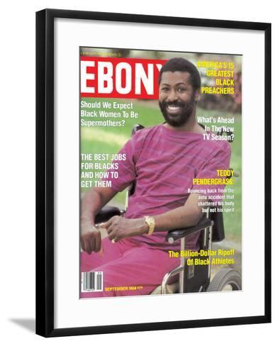 Ebony September 1984-Moneta Sleet Jr.-Framed Art Print