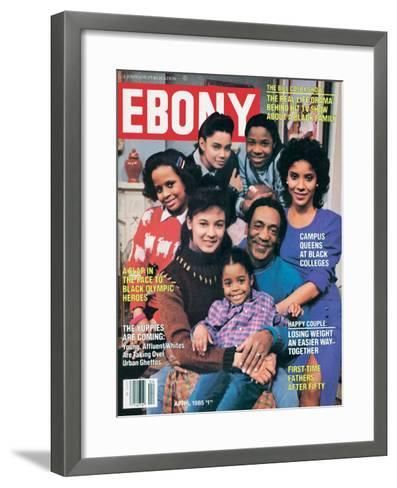 Ebony April 1985-Moneta Sleet Jr.-Framed Art Print