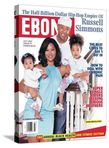 Ebony July 2003-Vandell Cobb-Stretched Canvas Print
