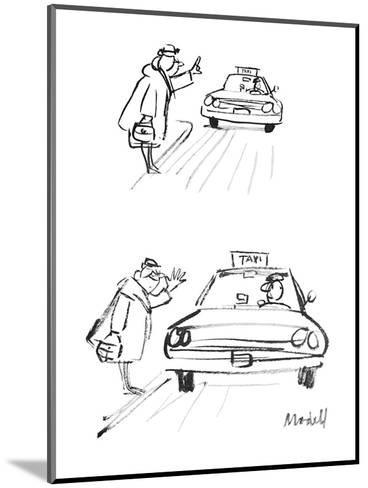 Woman hails cab. When it stops, she thumbs her nose at the driver. - New Yorker Cartoon-Frank Modell-Mounted Premium Giclee Print