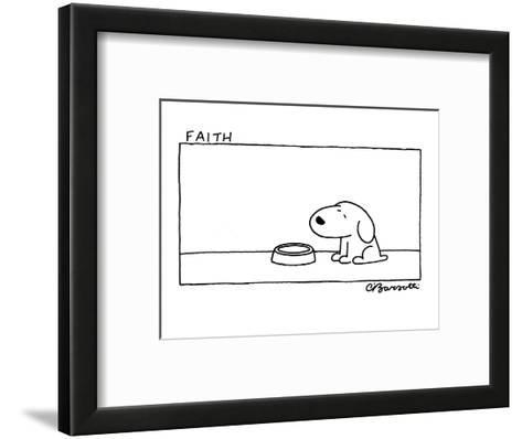 Faith - Cartoon-Charles Barsotti-Framed Art Print