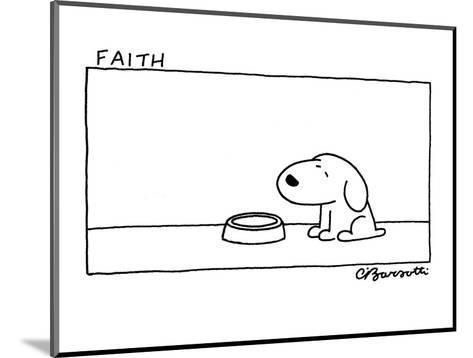 Faith - Cartoon-Charles Barsotti-Mounted Premium Giclee Print