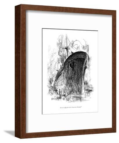 """""""Are we right for the St. Lawrence Seaway?"""" - New Yorker Cartoon-Alan Dunn-Framed Art Print"""