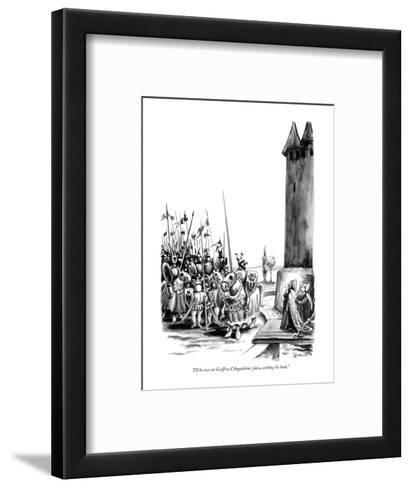 """I'll be over at Geoffrey d'Angoul?me's place, settling his hash."" - New Yorker Cartoon-Eldon Dedini-Framed Art Print"