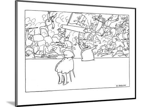 Small king is having his portrait taken, he is standing in front of a batt? - New Yorker Cartoon-Otto Soglow-Mounted Premium Giclee Print