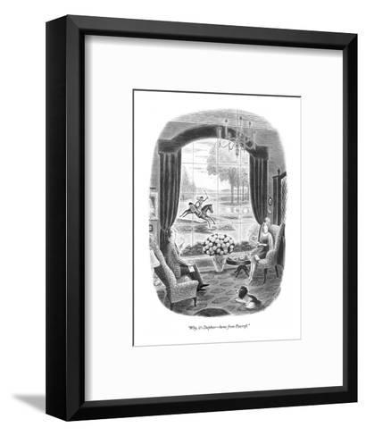 """Why, it's Daphne?home from Foxcroft."" - New Yorker Cartoon-Richard Taylor-Framed Art Print"