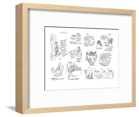Keeping Warm - New Yorker Cartoon-George Booth-Framed Art Print