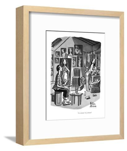 """""""In a minute!  In a minute!"""" - New Yorker Cartoon-Peter Arno-Framed Art Print"""